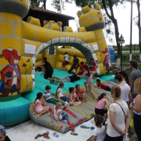 Bouncy castle in Findikli, Turkey