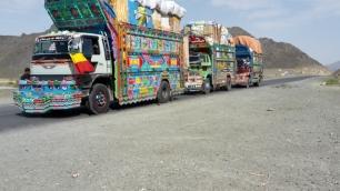 Trucks in Baluchistan, Pakistan