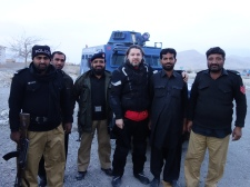 Police escort in Quetta, Pakistan