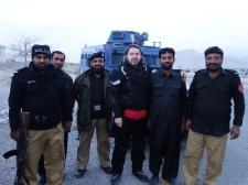 Police escort in Quetta, Pakistan