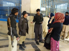 Buying train tickets with pur escort in Quetta, Pakistan