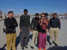 My fellow Swedish co-travellers in Quetta, Pakistan