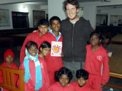Children welcoming me to Hope project, Dehra Dun, India