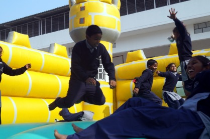 Bouncy castle in Dehra Dun, India