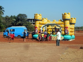Bouncy caste with Mango Tree Goa