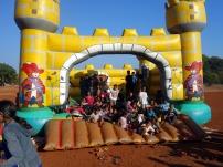 Children on the castle in Mapusa, Goa