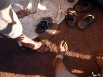 Foruntately the sandal prevented our feet from becoming entirely dirty