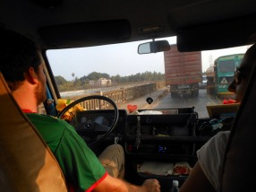 View while driving, note the various talismans and assets