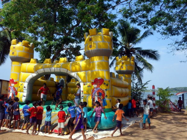 Bouncy castle at Don Bosco orphanaga in Kochi, Kerala