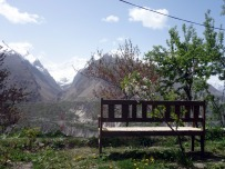 View from the breakfast table in Hunza, Pakistan