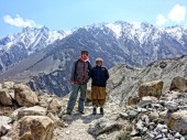 On the Gulmit glacier near Hunza, Pakistan