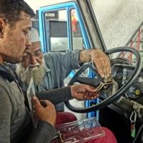 Repairing my car in Lahore, Pakistan
