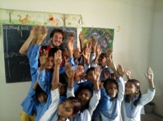 In the brick kiln school near Lahore, Pakistan