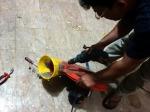 William fixing my fan in Lahore, Pakistan