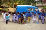 Children praciticing to jump at the Miracle school Lahore, Pakistan