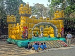 Bouncy castle at the Miracle school Lahore, Pakistan