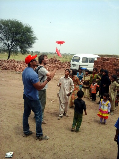 Fortunately, some toys don't need electricity in the brick kiln near Lahore, Pakistan