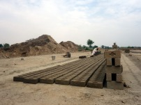 Brick kiln near Lahore, Pakistan