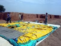 Preparing the castle in the brick kiln near Lahore, Pakistan
