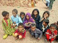 Children in the brick kiln near Lahore, Pakistan