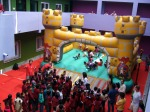 Bouncy castle in the Mother Miracle school in Rishikesh, India