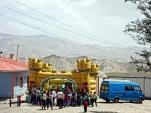 Bouncy castle in a village school near Van, Turkey