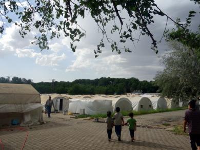 Yazidi refugee camp near Diyarbakir, Turkey